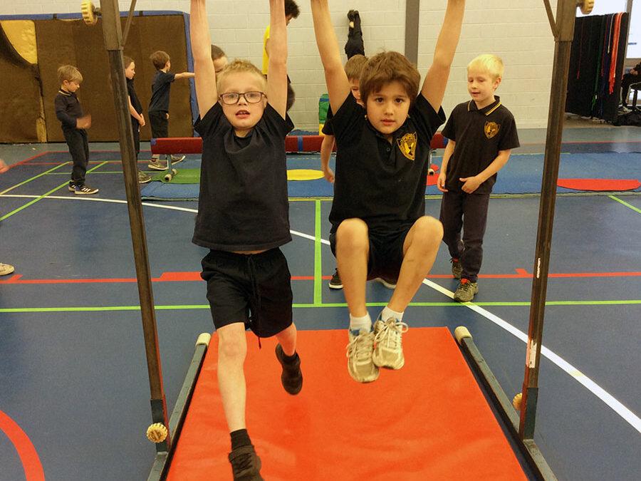Students enjoy trampolining and gymnastics in TriSkills learning